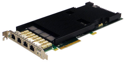 Silicom Ltd  | PE310G4DBIR-T Content Director Server Adapter