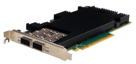 Dual Fiber 100 Gigabit Ethernet Content Director Server Adapter